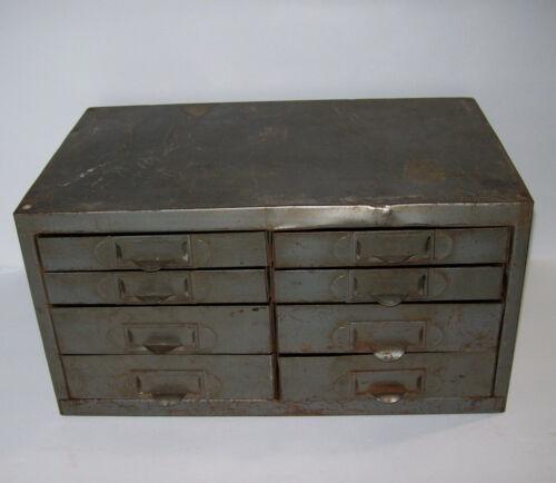 vintage Kennedy 8 Drawer Metal Cabinet, MACHINIST PARTS CASE