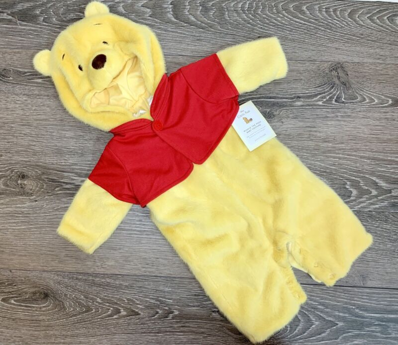 POTTERY BARN KIDS Winnie The Pooh Plush Baby Infant Costume 0-6 Months NWT!