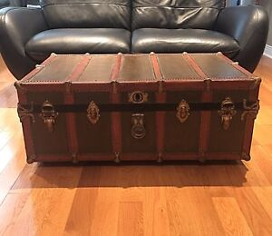 Antique Steamer Trunk (1920's) Coffee Table