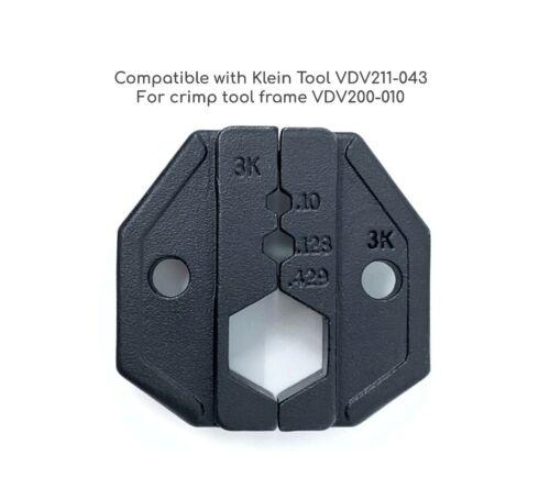 RF Coax Crimp Tool Die 3K RG8 RG11 RG174 RG179 RG213 VDV211-043 .100 .429