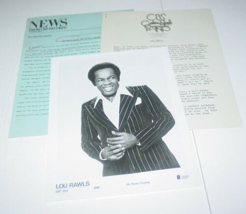 Lou Rawls Vintage Original Press Photo w/ paperwork R&B Soul Black Power BLM