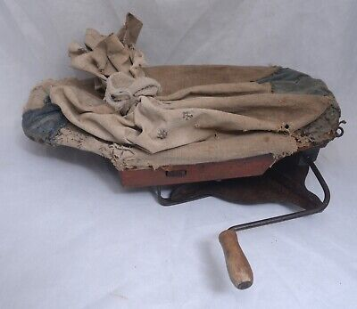Vintage CYCLONE Rotary Seeder Spreader Handheld Primitive Farming Tool USA