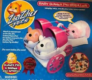 Zhu Zhu Pets- Guinea Pig Stroller includes 2 babies