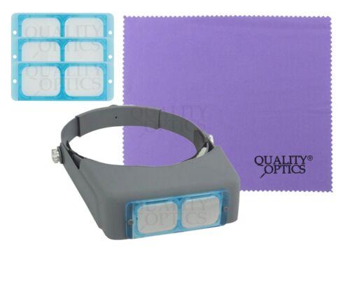 Quality Optics® Professional Series Glass Headband Magnifier Jewelers Head Visor