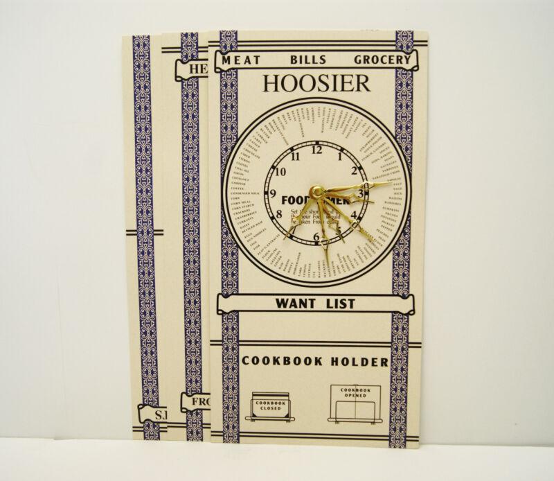 Hoosier Cabinet Door Chart Set