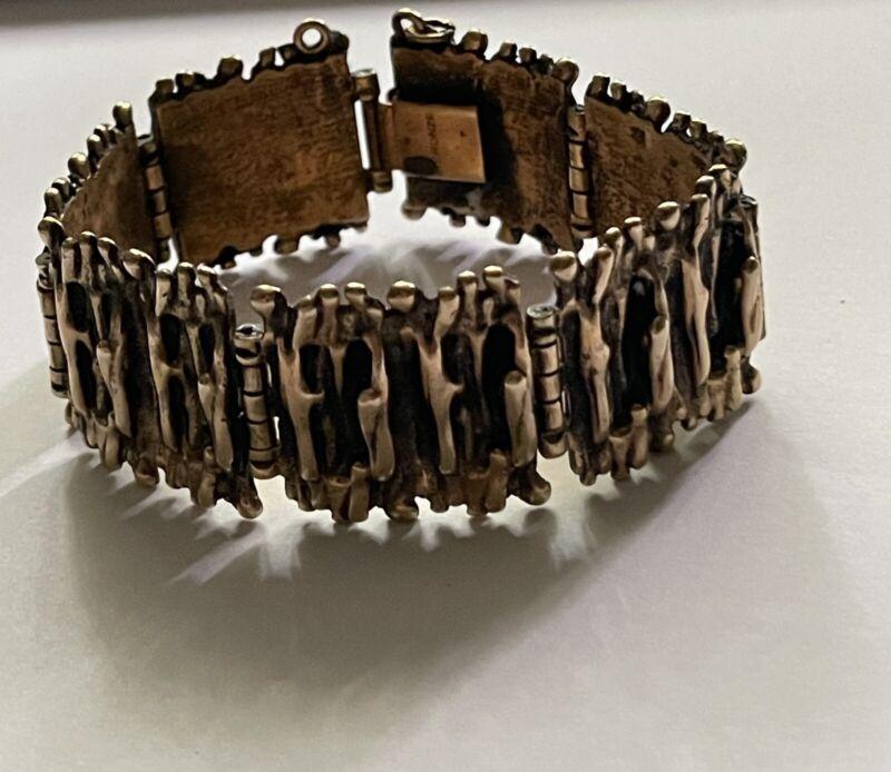 Finland Bronze  Bracelet  Vintage Brutalist