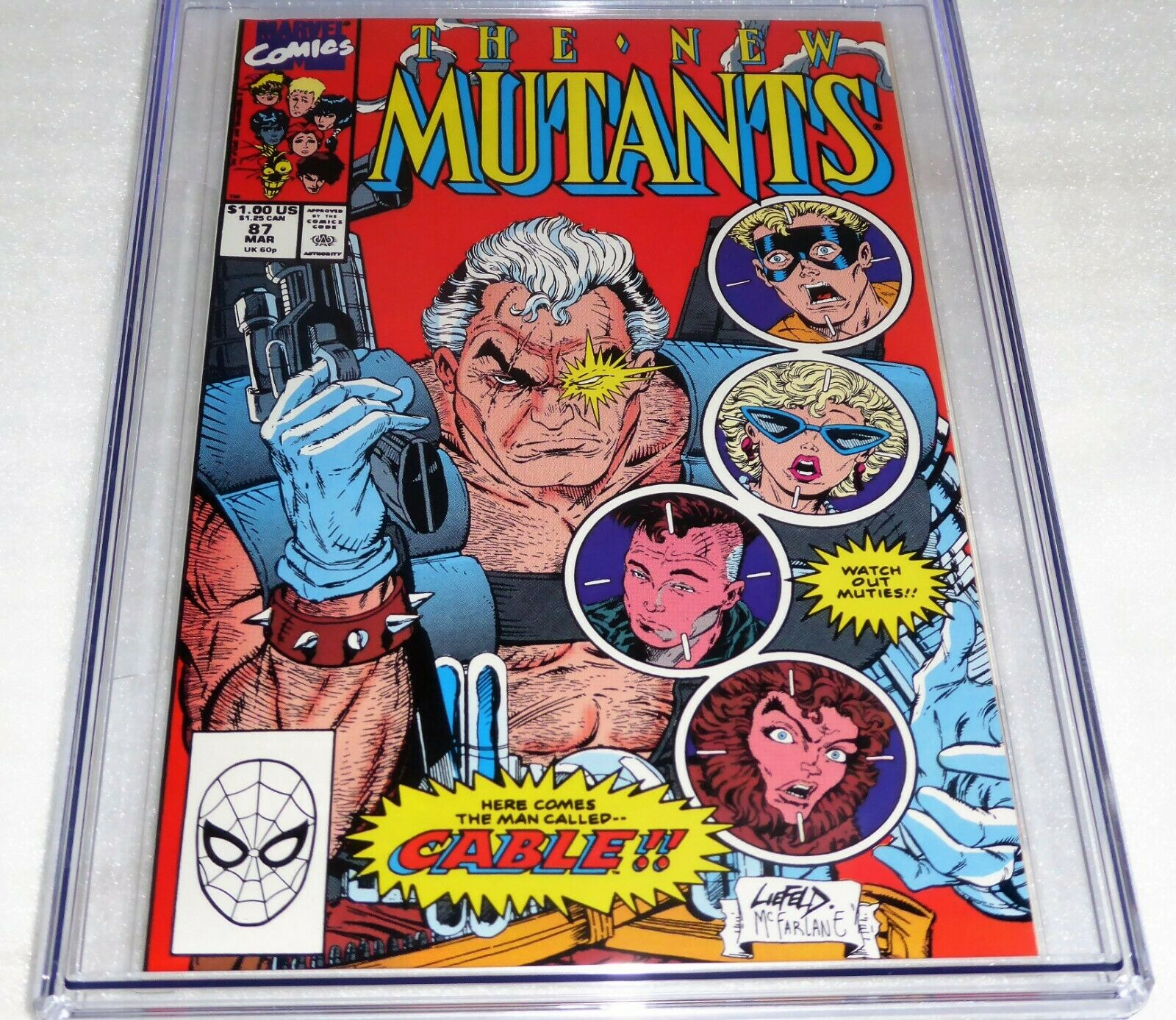 New Mutants #87 1st Cable Appearance CGC Universal Grade Comic 9.8 Marvel POW 2