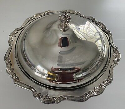 NEW Vintage Gorham Heritage Silver Plated Covered Serving Dish   Y-346 (Silver Covered Serving Dish)