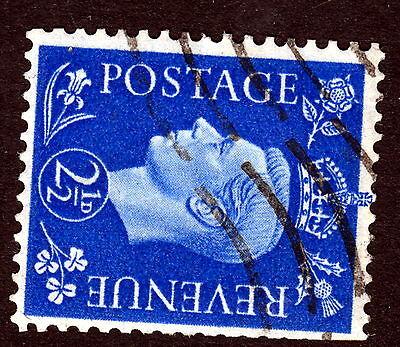 GB :1937 21/2d ultramarine sideways watermark SG 466a used