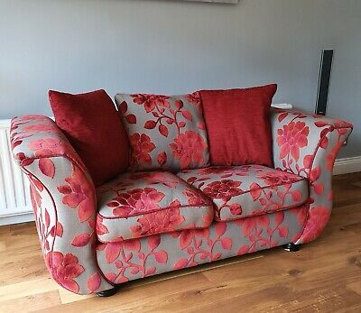 DFS 2 seater sofa Red & Grey