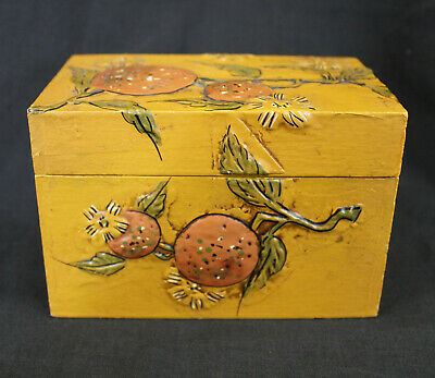 VTG Fitz and Floyd Wooden Recipe Box Japan Oranges Plus Vtg Recipe Cards](Recipe Box And Cards)