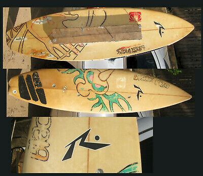 Surfing - Vintage Wood Surfboard - Trainers4Me