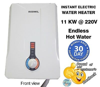 Electric Tankless Water Heater Endless Hot Water On Demand 2 9 Gpm 11Kw Rodwil