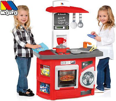 Molto Spielküche Kinderküche Kitchen mit 12-tlg. Zubehör