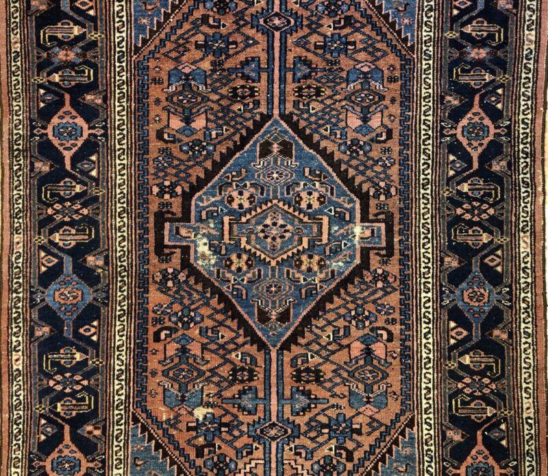 Terrific Tribal - 1930s Antique Oriental Rug - Nomadic Carpet - 4.3 X 6.5 Ft