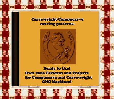 Photo NEW CD with Over 2000 Sears Craftsman Compucarve and Carvewright Patterns !