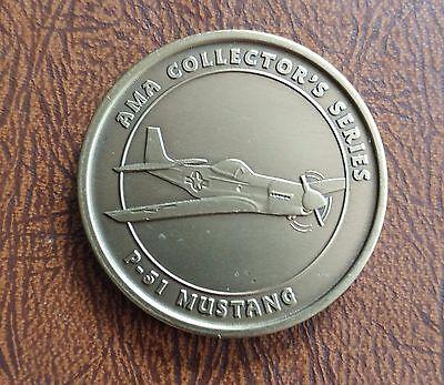 CHALLENGE COIN AMA COLLECTORS SERIES P-51 MUSTANG EST 1936