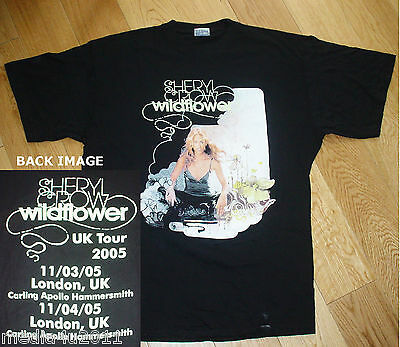 SHERYL CROW WILDFLOWER VINTAGE LONDON UK CONCERT TOUR 2005 X LARGE T SHIRT NEW