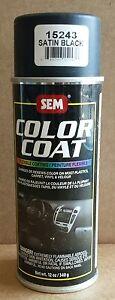 sem 15243 satin black vinyl aerosol color coat restoration auto body car paint ebay. Black Bedroom Furniture Sets. Home Design Ideas