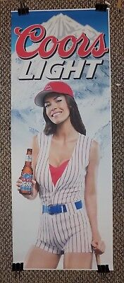 Large COORS LIGHT Beer POSTER Sexy Woman in - Sexy Baseball Uniform