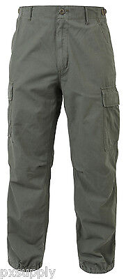 (pants vintage style vietnam fatigue olive drab green cotton rip stop rothco 4387)