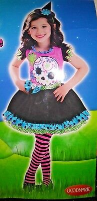 Skully Sweetie Costume - Day of The Dead - Witch Girl Skeleton Dress - M - Dead Witch Costume