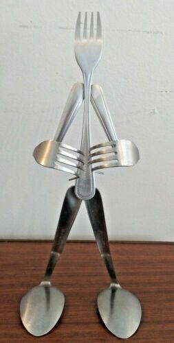 Forked Up Art Figure Novelty Silverware Utensil Salt and Pepper Shaker Holder