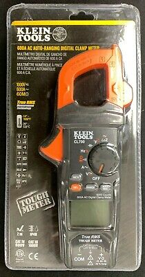Klein Tools Cl700 600 Amp Ac True Rms Auto-ranging Dig. Clamp Meter Free Ship