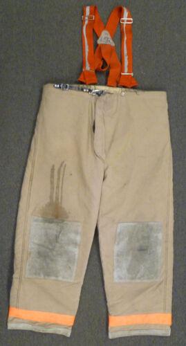 48x32 Janesville Lion Firefighter Pants Turnout Bunker Fire Gear Suspenders P958