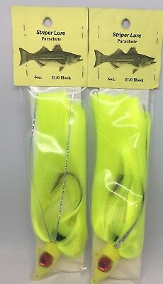 SINKERMANS PACMAN PARACHUTE STRIPER LURES 10 OZ WHITE 2