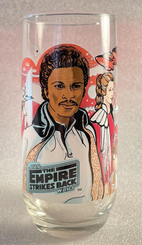 Star Wars Empire Strikes Back Lando Calrissian Glass Cup Burger King 1980