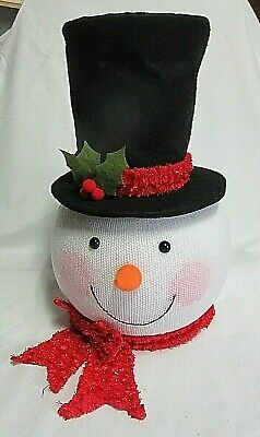 "Home Accents Holiday~ Christmas Snowman Tree Topper Ornament Head 14"" NIB"