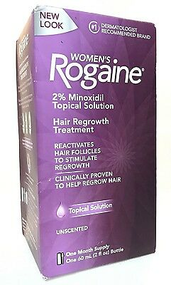 Rogaine women Hair 2% Minoxidil Topical Solution 1 month   exp 5/2020