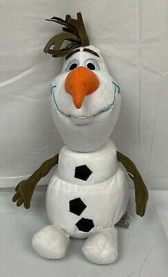 """Disney Frozen 2 12"""" Large Olaf Plush Officially Licensed Kids Stuffed Toy Used"""