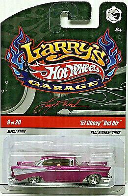 Hot Wheels Larrys Garage Series '57 CHEVY BEL AIR w/RRs (Pink)