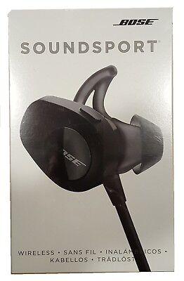 Bose SoundSport Bluetooth Wireless In-Ear Headphones Black - Free Shipping --
