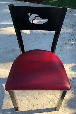 Chilis Restaurant Tile Top Table Plus 4 Chilis Logo Chairs - Authentic