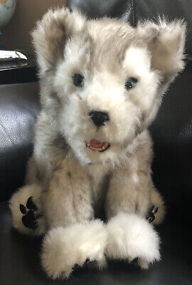 WowWee Alive Siberian Husky Pup Wolf Dog Interactive Electronic Plush Toy 2008