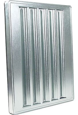 Exhaust Hood Grease Filter Baffle25x20 Galvanized 31150