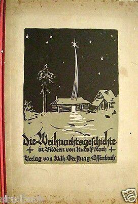 Die Weihnachtsgeschichte in Bildern von R. Koch Blockbuch mit 10 Holzschnitten