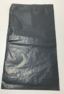"100 X Grey Mailing Bags 6""x9"" Polythene Mailing Postal Self Seal 152 229mm"