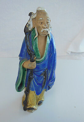 ANTIQUE CHINESE MUDMEN WEARING A BLUE ROBE  1900-1940, China Porcelain
