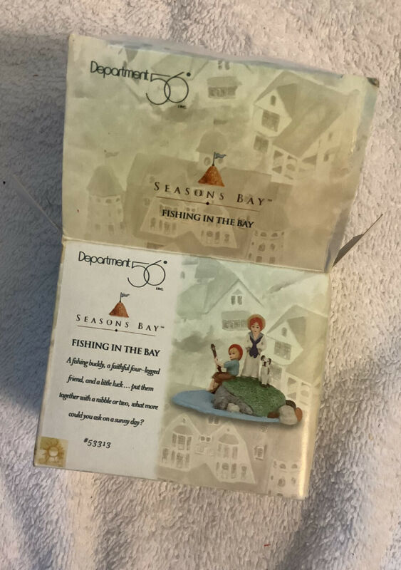 Department 56 ~ Seasons Bay ~ Fishing In The Bay ~ #53313