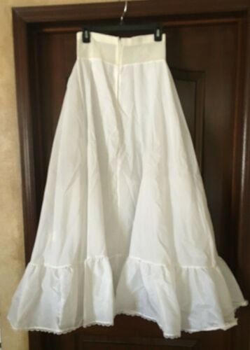 A-line Semi Full Hoopless Bridal Wedding Gown Crinoline Petticoat Skirt Slip