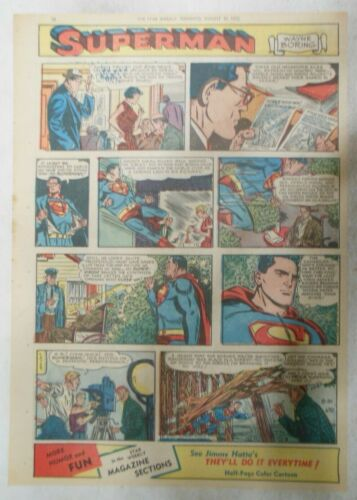 Superman Sunday Page #670 by Wayne Boring from 8/30/1952 Size ~11 x 15 inches