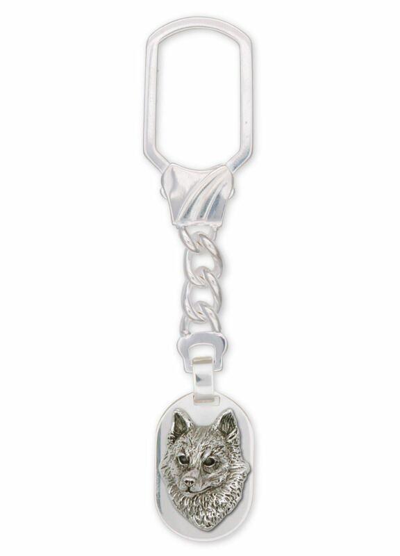 Schipperke Jewelry Sterling Silver Schipperke Key Ring Handmade Dog Jewelry SK-K