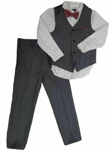 NEW - Andy & Evan Boys Formal 4-Piece Suit with Vest, Tie, Shirt and Pants  (2T)