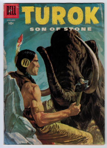 TUROK # 4 4.0 OFF-WHITE PAGES 1956