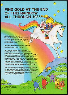 RAINBOW BRITE__Original 1985 Trade print AD promo / poster__Hallmark Licensing