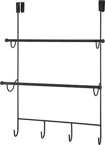 Metall Türgarderobe XXL - Tür Haken Garderobenleiste Hakenleiste Handtuchhalter
